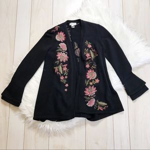 Style & Co. Floral Embroidered Cardigan Sweater